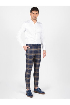 Mcr Erkek Lacivert Slim Fit Pantolon