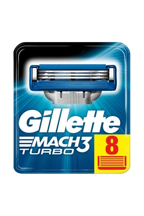 Gillette Mach3 Turbo Yedek Tıraş Bıçağı 8'li