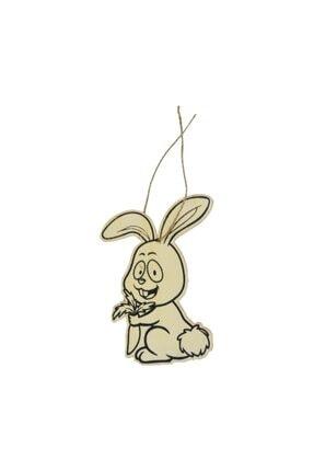 NisanParti Lazer Kesim Karakterli Boyama Tahtası Ahşap Tavşan