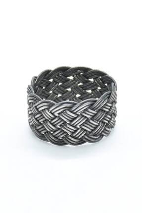 KSG Unisex Özel Tasarım Kazaziye El Örmesi 1000 Ayar Gümüş Yüzük