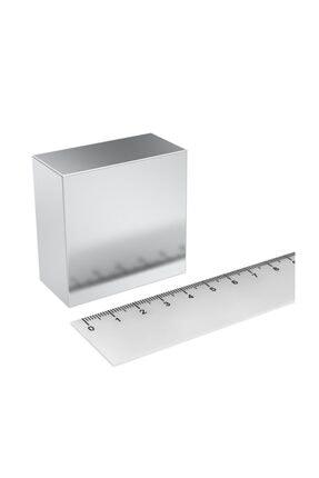 Dünya Magnet Çok Güçlü Neodyum Mıknatıs, 50mm X 50mm X 25mm Büyük Mıknatıs