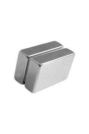 Dünya Magnet 2 Adet 40mm X 25mm X 10mm Köşeli Güçlü Neodyum Mıknatıs (2'li Paket)