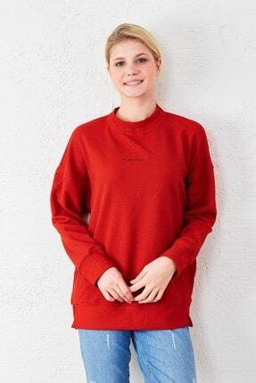 Eka Kadın Kırmızı Uzun Kol Sweatshirt