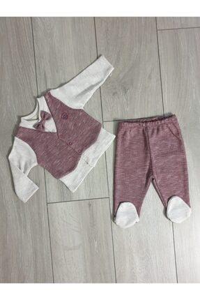 Ciccim Baby Erkek Bebek Bordo Yelekli Takım