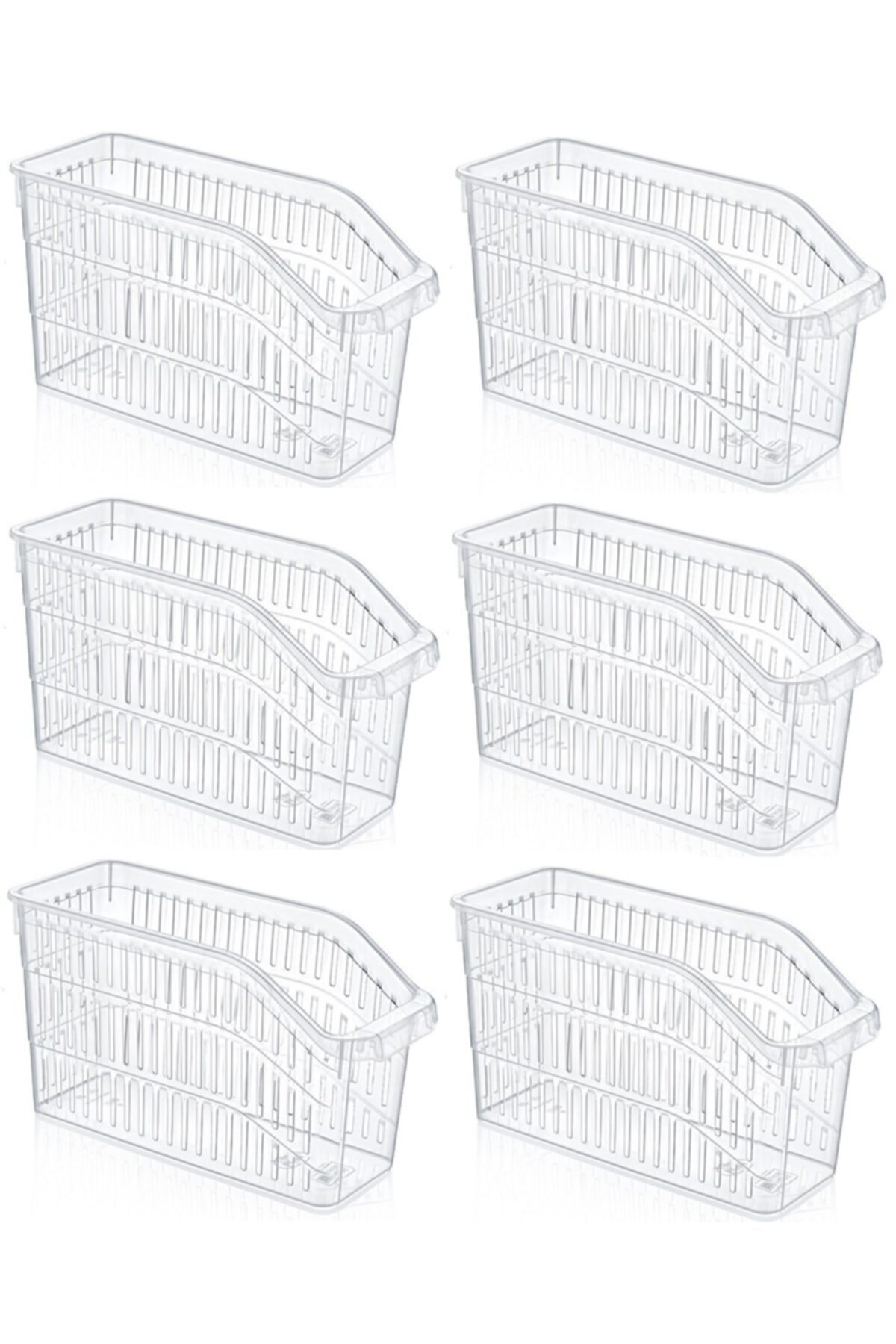 Sas Buzdolabı Sepeti Dolap Içi Düzenleyici Sepet Organizer Şeffaf 6 Adet 30x17x16 1