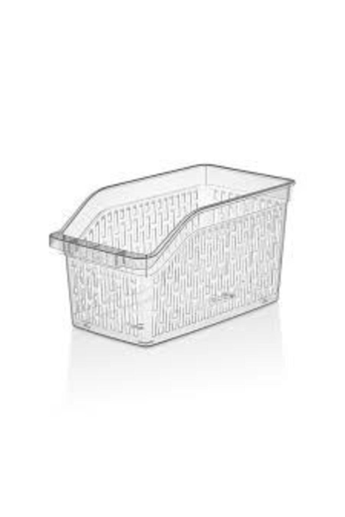 Sas Buzdolabı Sepeti Dolap Içi Düzenleyici Sepet Organizer Şeffaf 6 Adet 30x17x16 2