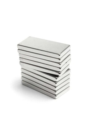 Dünya Magnet 20 Adet 20x10x2 Süper Güçlü Neodyum Mıknatıs Magnet (20'li Paket)