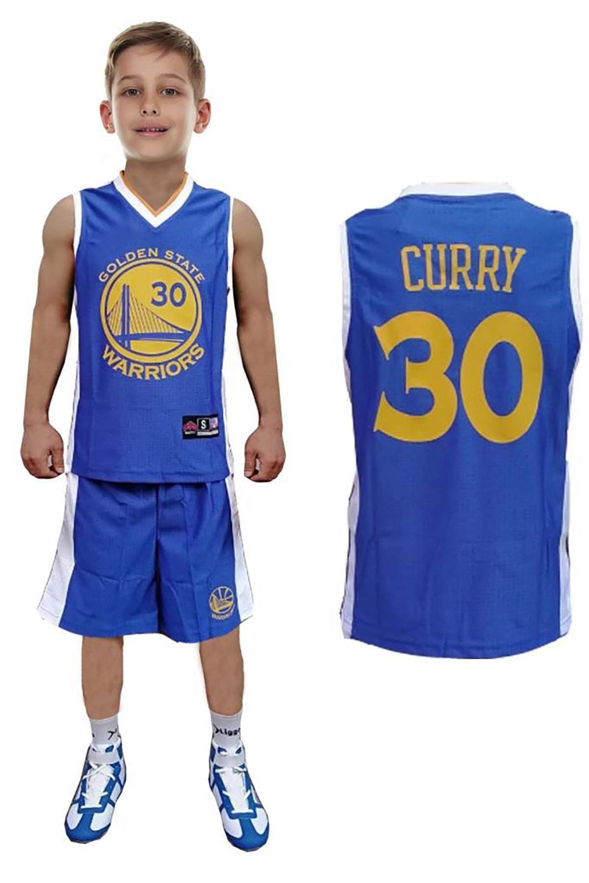 Liggo Golden State Curry Çocuk Basketbol Forma Şort Takımı