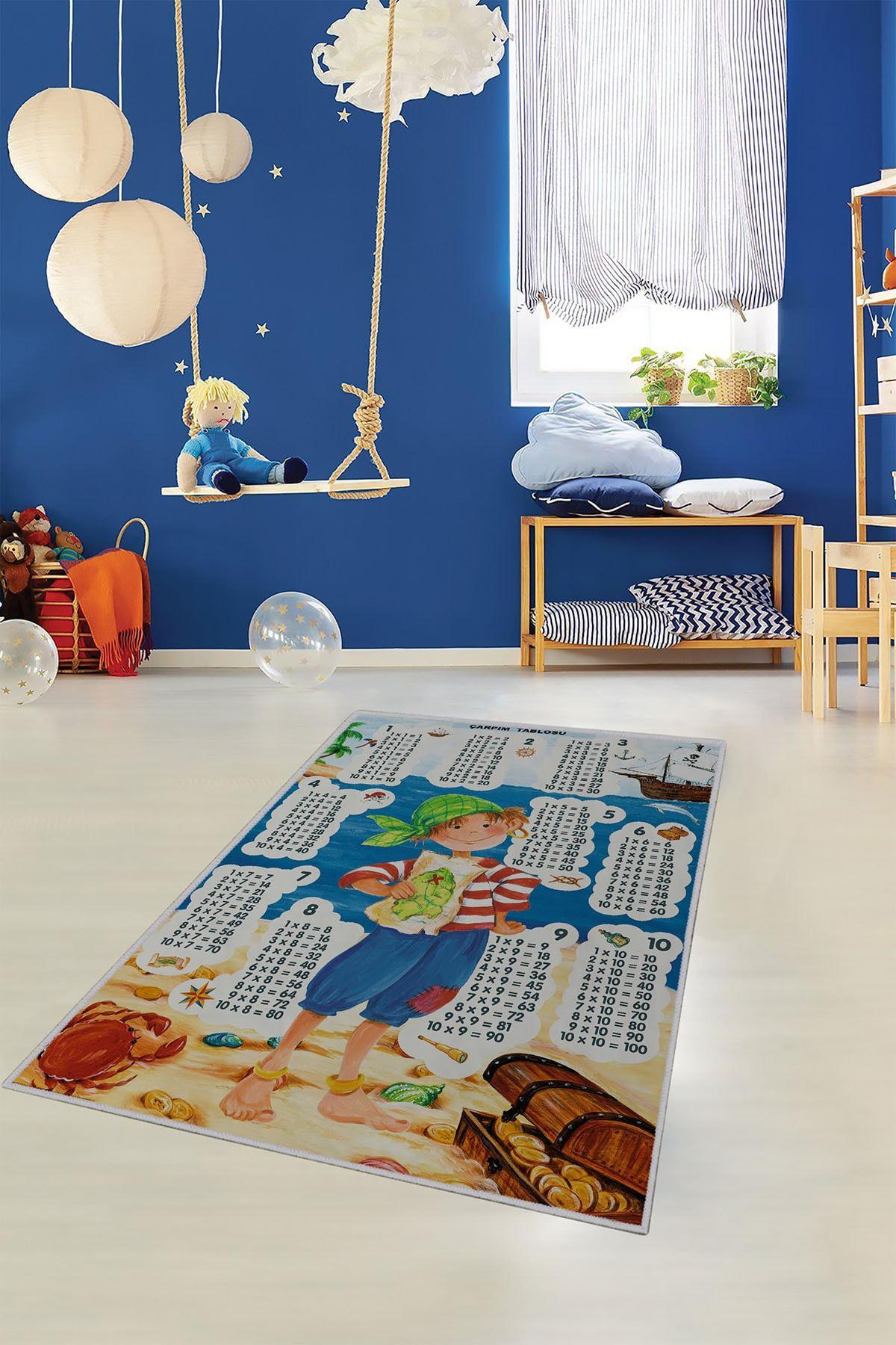 Homefesto Dekoratif Özel Tasarım Ince Yıkanabilir Leke Tutmaz Modern Çocuk Halısı 2
