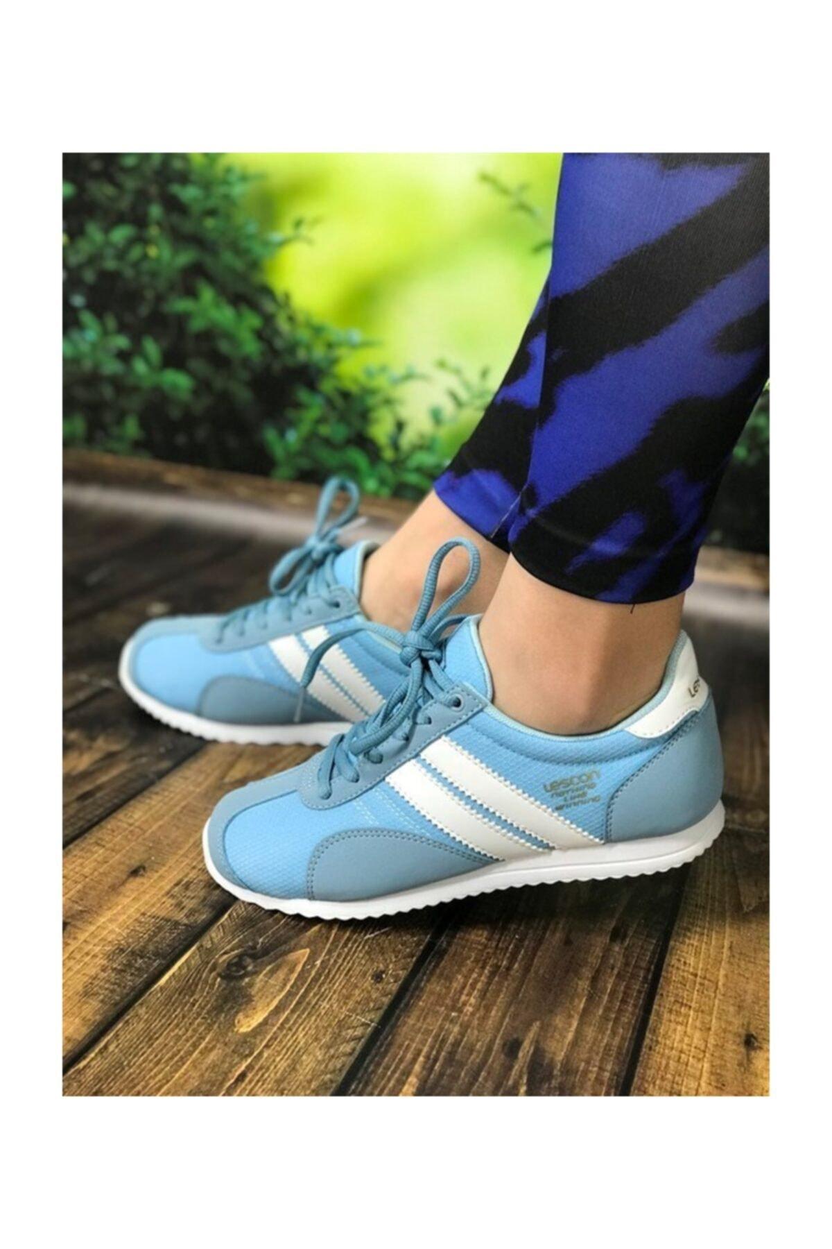 Lescon Mavi Bayan Spor Ayakkabı 2