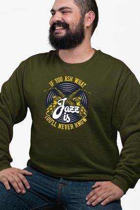 Angemiel Wear Jazz Ve Saksafon Yeşil Erkek Sweatshirt