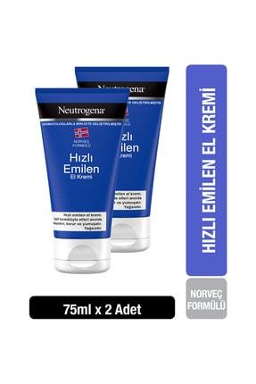 Neutrogena Norveç Formülü Hızlı Emilen El Kremi 75 ml x2
