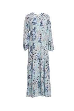 DeFacto Desen Detaylı Dokuma Elbise