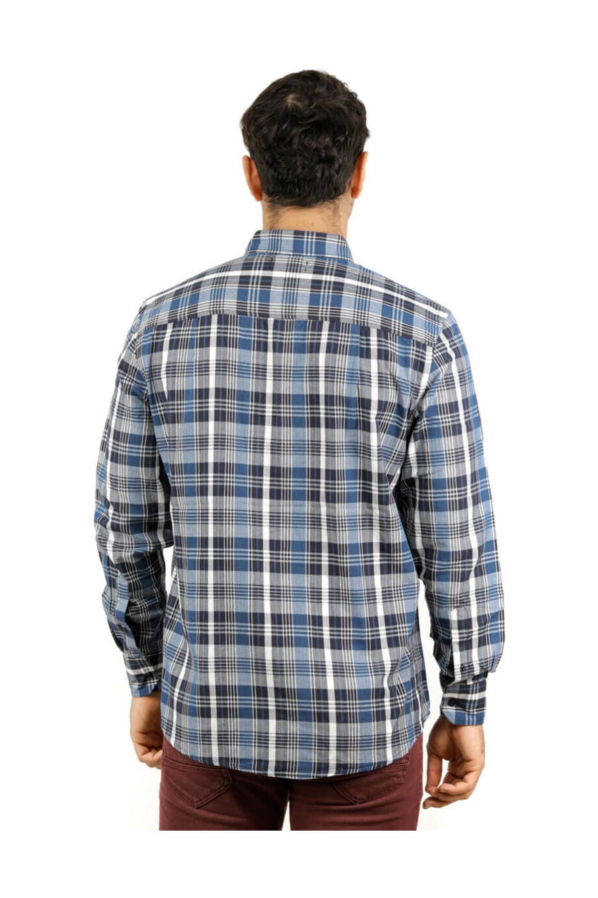 Phazz Brand B3015 Ekose Erkek Uzun Kollu Gömlek 2