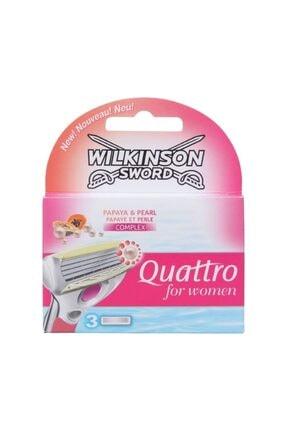 Wilkinson Sword Quattro Kadın Yedek Tıraş Bıçağı 3'lü