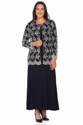 Ladies First Ladıes Fırst Büyük Beden 2652 Lacivert Elbiseli Takım