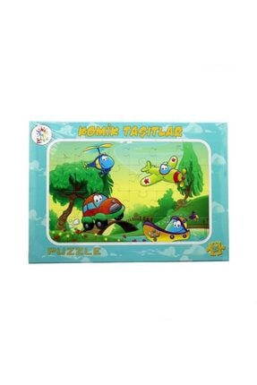 Nubutik's Erkek Çocuk Renklı Taşıtlar Puzzle 24 Parça