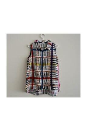 NK Cool Kids Butik Reli Sıfır Kollu Kız Gömlek