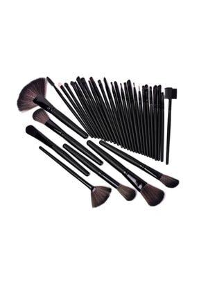 HANNAH 32 Parça Makyaj Fırça Seti Siyah