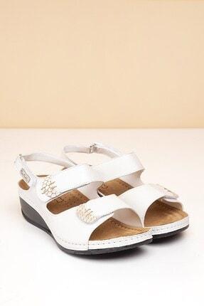 Pierre Cardin PC-1327 Beyaz Kadın Sandalet