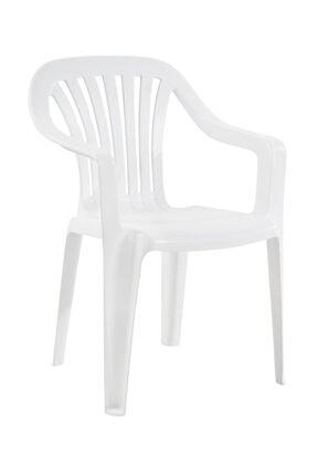 Papatya Tropik Koltuk Beyaz - Plastik Bahçe Sandalyesi