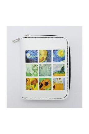 Köstebek Art - Van Gogh Portre Kolaj Kısa Cüzdan