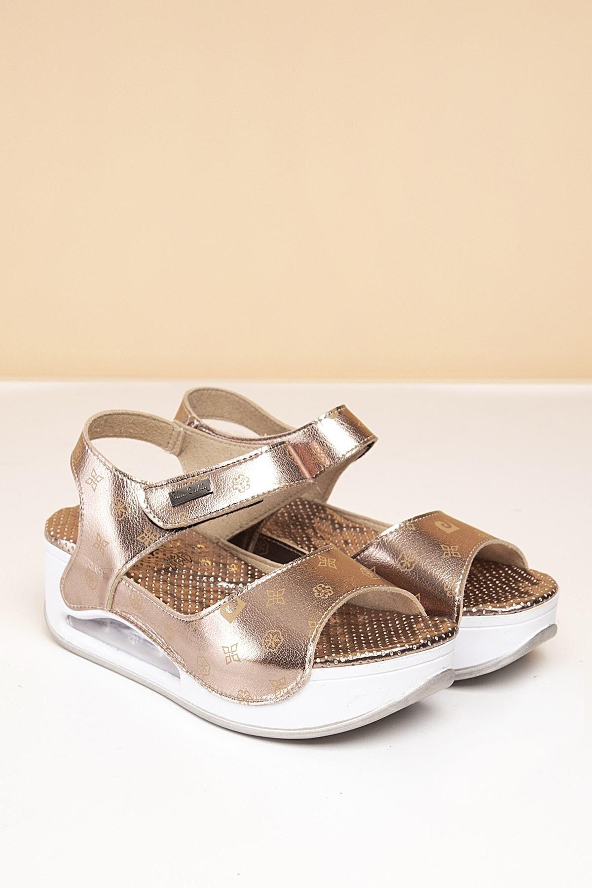 Pierre Cardin PC-1406 Platin-Bej Kadın Sandalet 1