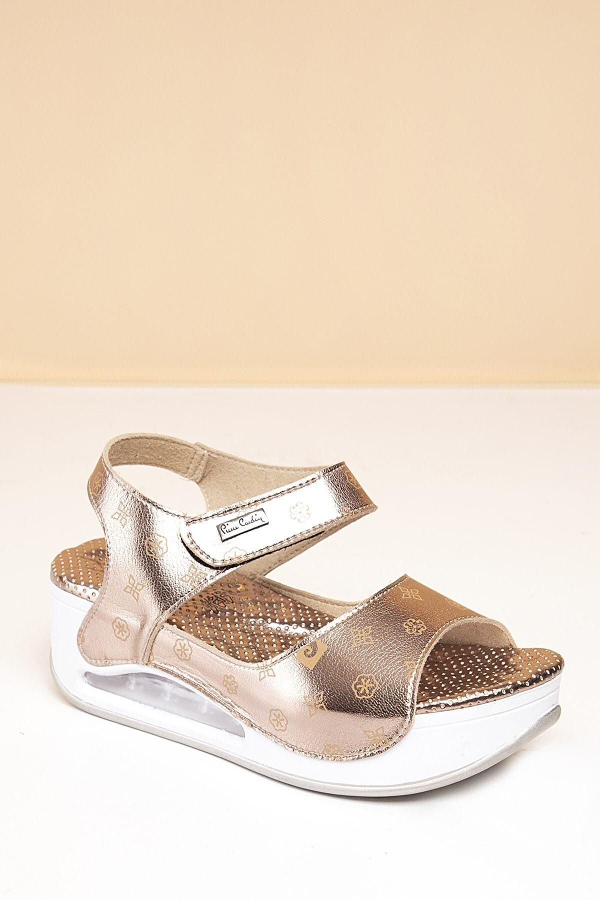Pierre Cardin PC-1406 Platin-Bej Kadın Sandalet 2