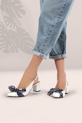 Gökhan Talay Kadın Fiyonk Detaylı Beyaz Topuklu Ayakkabı