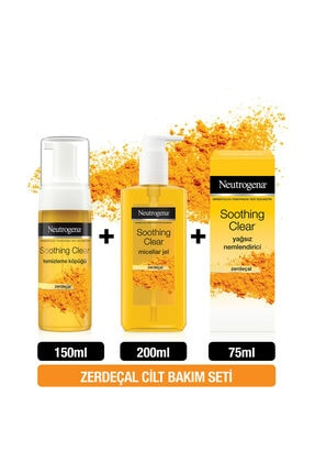 Neutrogena Soothing Clear Köpük 150 ml + Micellar Jel 200 ml + Yağsız Nemlendirici 75 ml