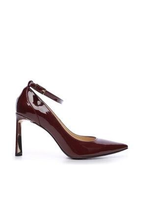 KEMAL TANCA Bordo Kadın Vegan Stiletto Ayakkabı 22 2077 BN AYK
