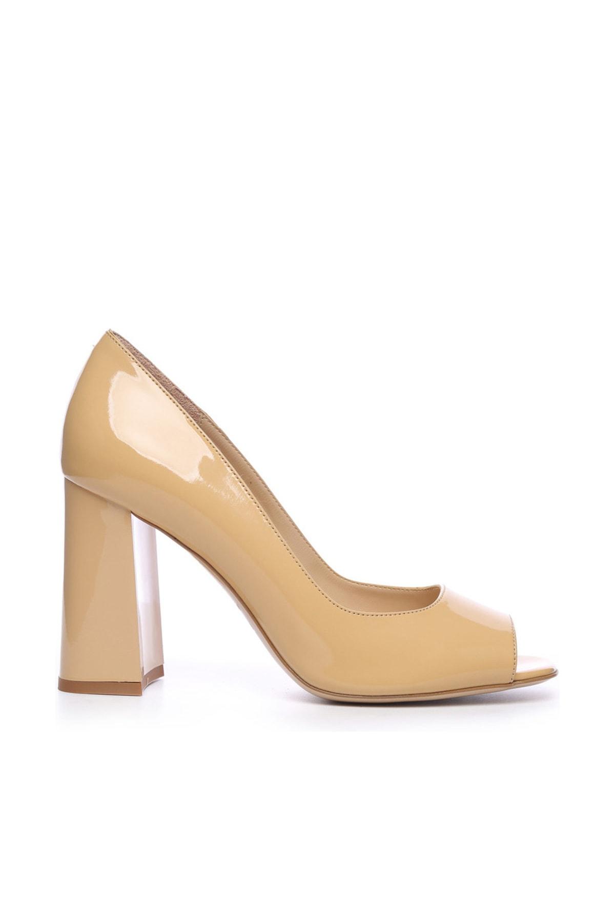 KEMAL TANCA Hakiki Deri Sarı Kadın Kalın Topuklu Ayakkabı 613 23532 BN AYK 1