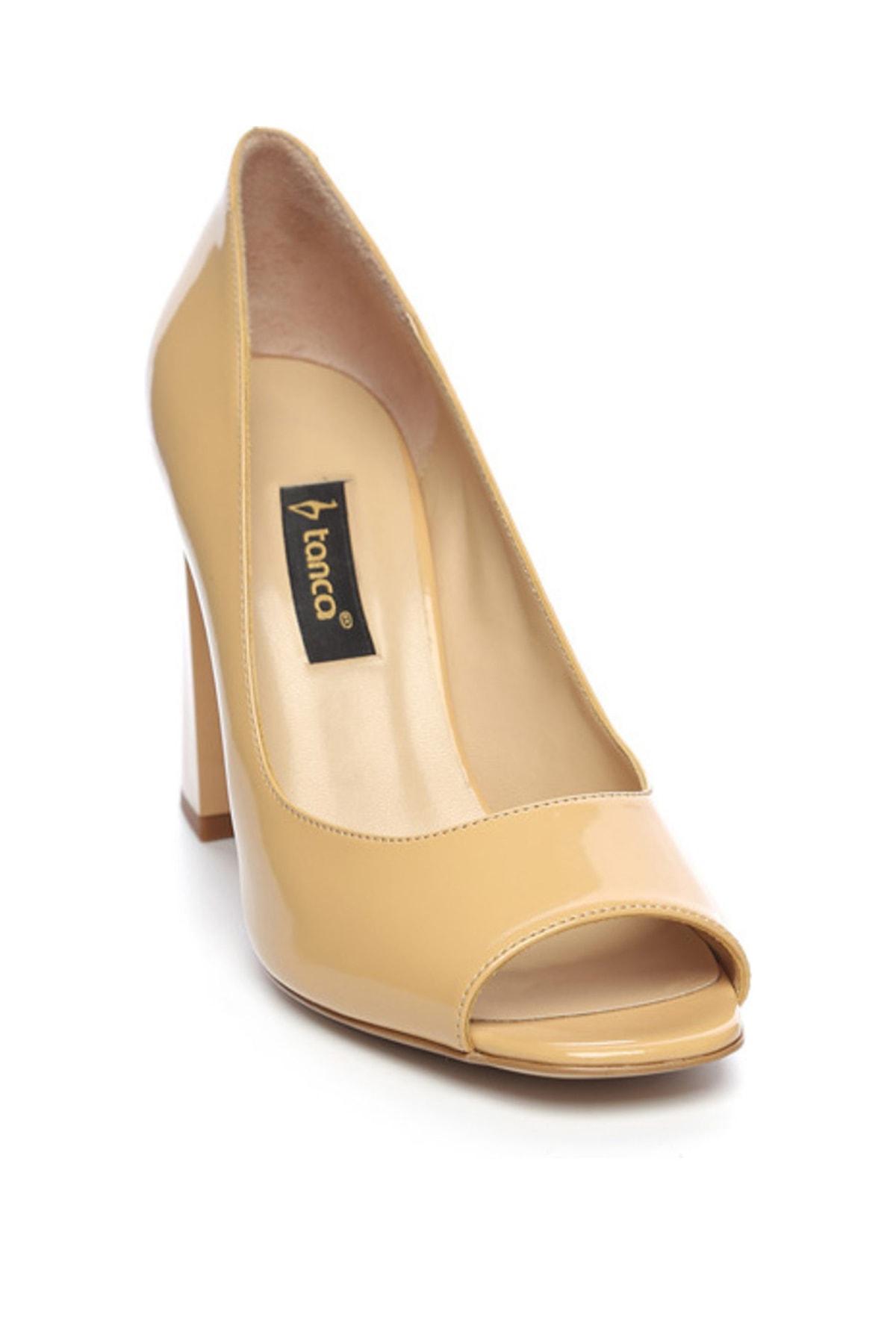 KEMAL TANCA Hakiki Deri Sarı Kadın Kalın Topuklu Ayakkabı 613 23532 BN AYK 2