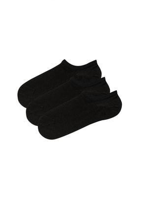 Penti Kadın Siyah Super Fit 3Lu Babet Çorabı