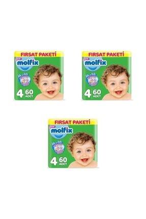 Molfix Fırsat Paketi 4 Numara 60 Adet (3lü Set)