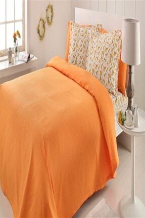 Özdilek Fashion Çift Kişilik Lüx Pike Takımı Oranj