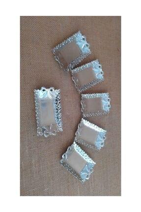 Deniz Party Store Tepsi Mini Fiyonk Modeli Gümüş ( 12li Paket )