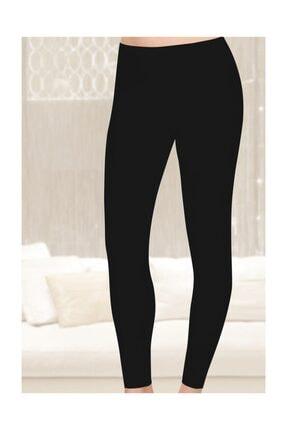 Tutku Kadın Düz Uzun Tayt 6'lı Paket Siyah