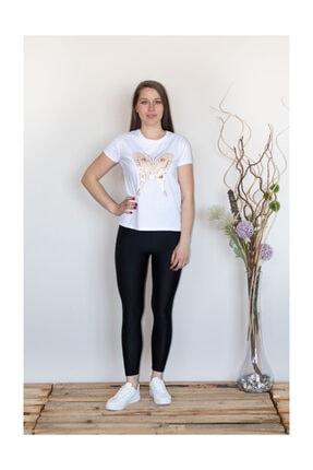 Prego Beyaz Kelebekli T-shirt