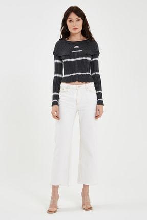 Nisan Triko Siyah Çizgili Bluz