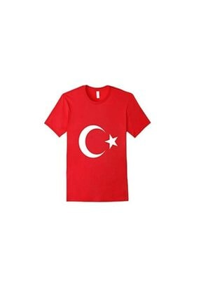 EventPartyStore Ay Yıldız Türk Bayraklı Kırmızı Tişört Small Beden