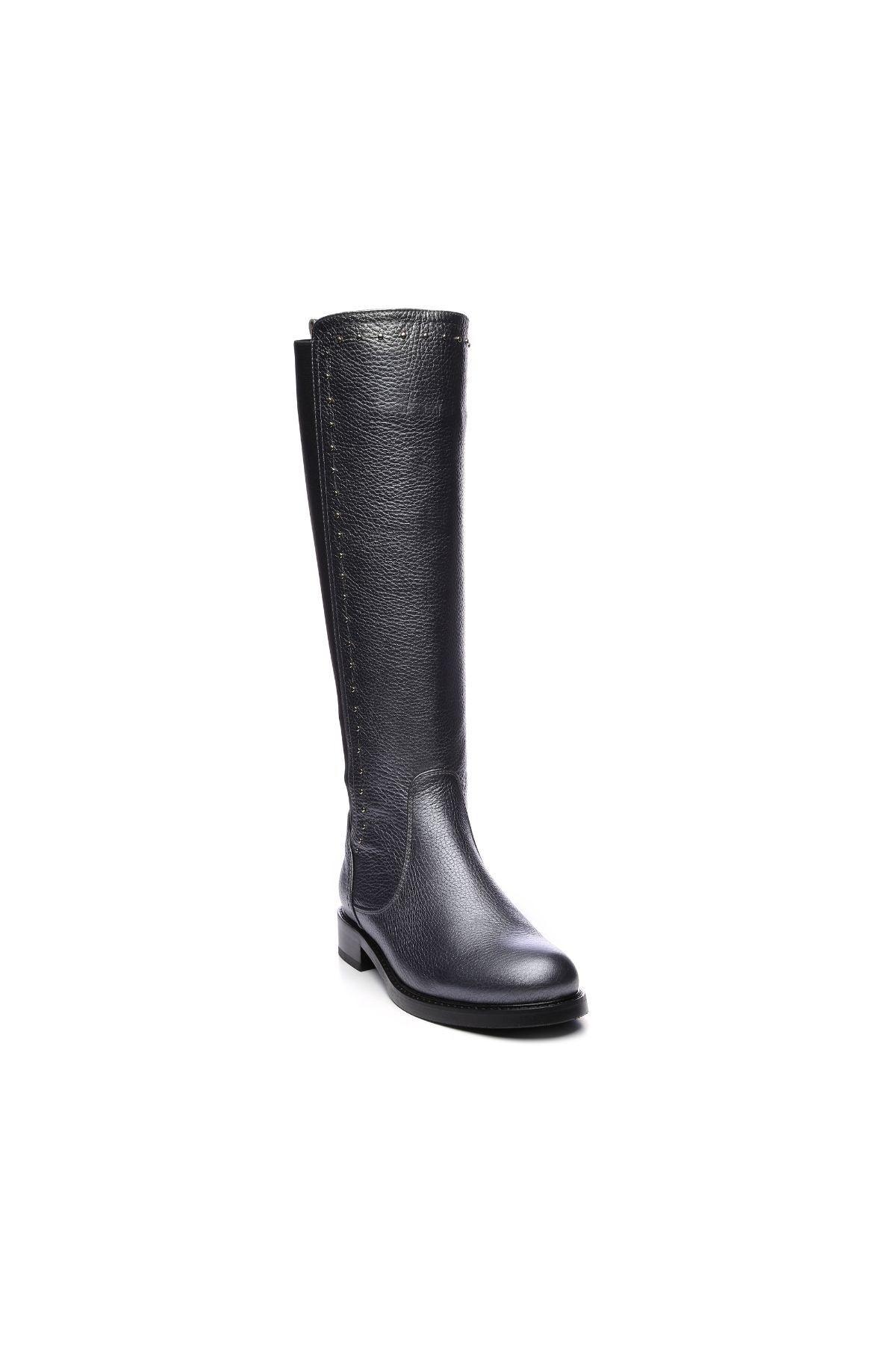 KEMAL TANCA Hakiki Deri Gri Kadın Çizme Çizme 94 6429 C BN CZM 2