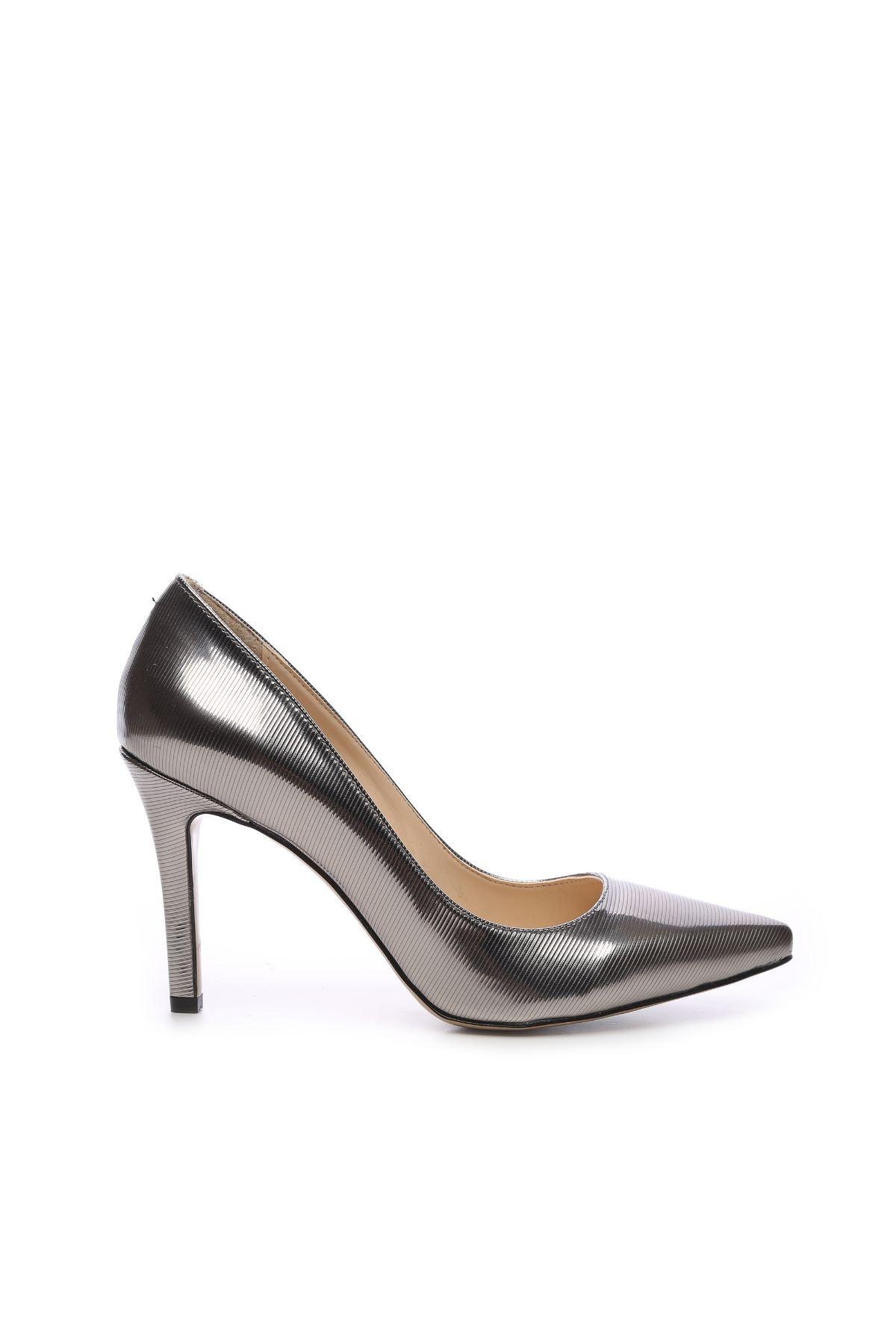 KEMAL TANCA Metalik Kadın Vegan Stiletto Ayakkabı 22 278 BN AYK 1