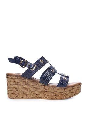 KEMAL TANCA Hakiki Deri Lacivert Kadın Sandalet Sandalet 169 6703 BN SNDLT
