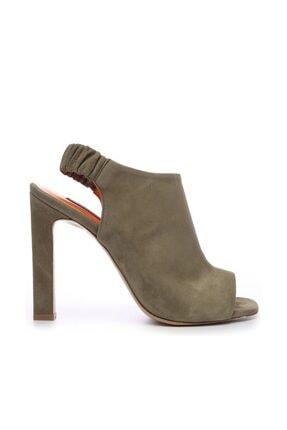 KEMAL TANCA Hakiki Deri Yeşil Kadın Klasik Topuklu Ayakkabı 299 1668 09 BN AYK Y19