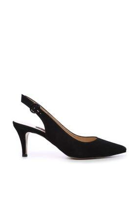 KEMAL TANCA Hakiki Deri Siyah Kadın Klasik Topuklu Ayakkabı 22 6295 BN AYK Y19