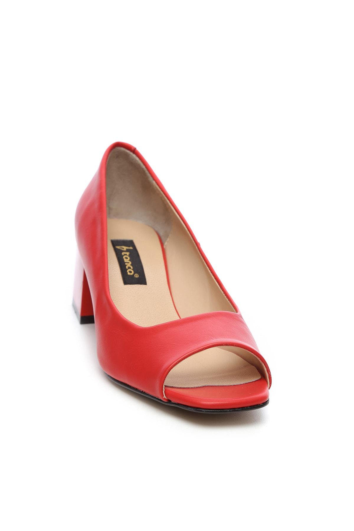KEMAL TANCA Kırmızı Kadın Vegan Abiye Ayakkabı 22 6292 BN AYK Y19 2