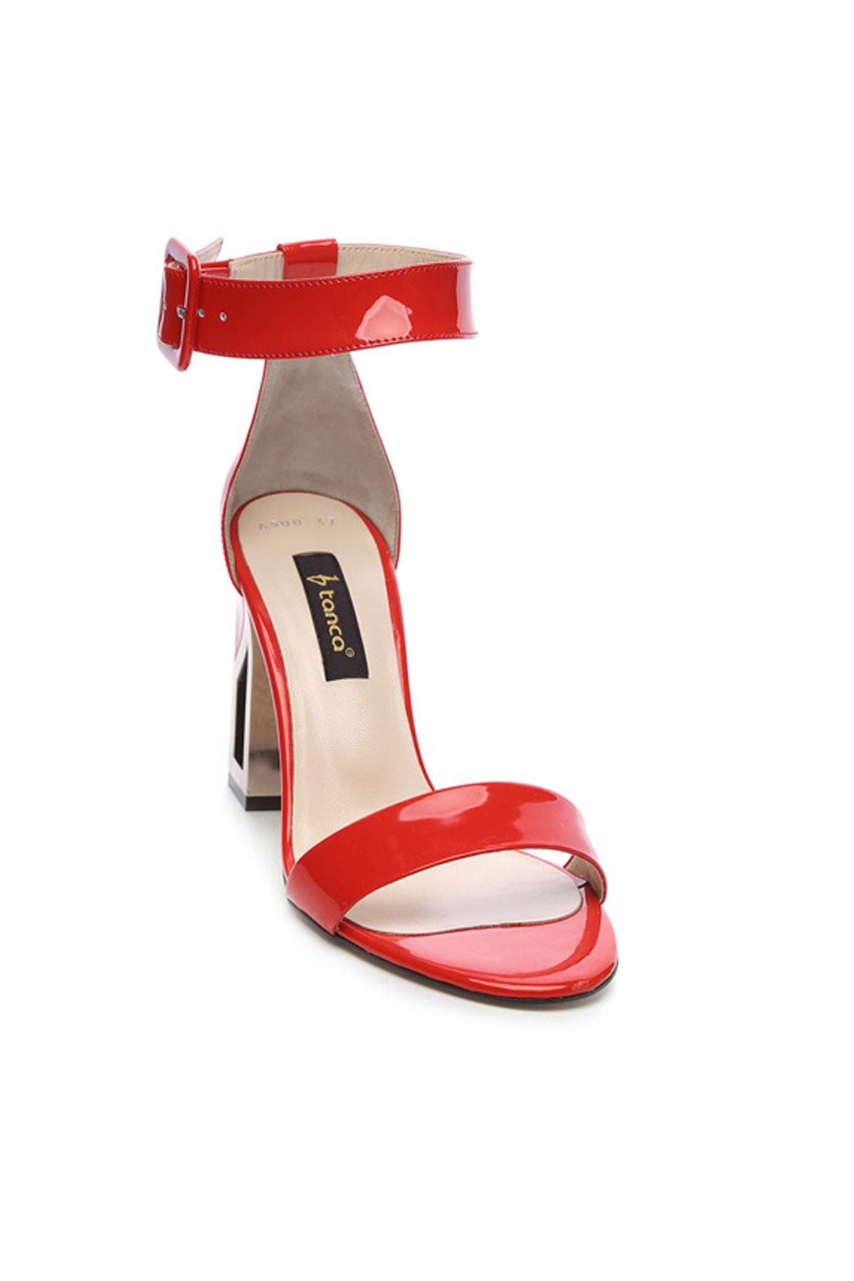 KEMAL TANCA Hakiki Deri Kırmızı Kadın Klasik Topuklu Ayakkabı 94 6500Y BN AYK Y19 2