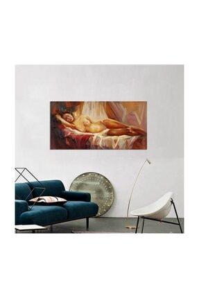 Tablosan Yağlı Boya Uzanan Kadın Nü Kanvas Tablo 20x30 Cm B-19-036