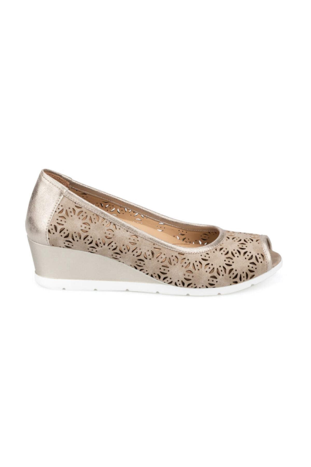Polaris 5 Nokta 91.100653.Z Altın Kadın Ayakkabı 100373631 2